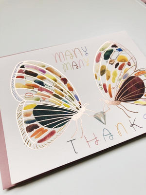 Many Thanks Moths Card
