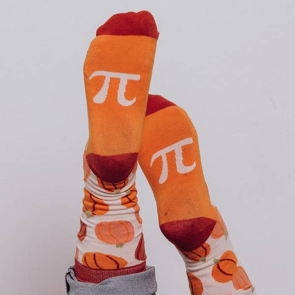 Pumpkin Pi Socks