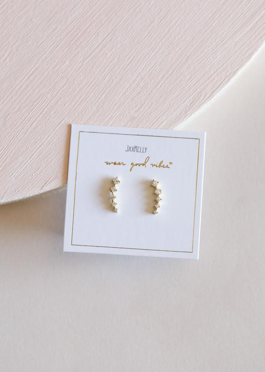 White Crawler Earrings