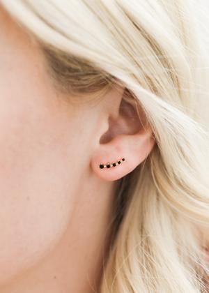 Black Crawler Earrings