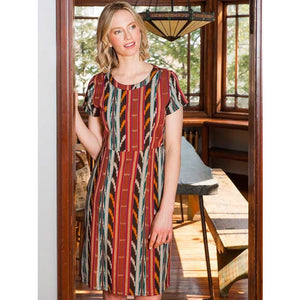 Bella Dress in Desert Ikat