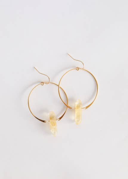 Citrine Hoop Earrings