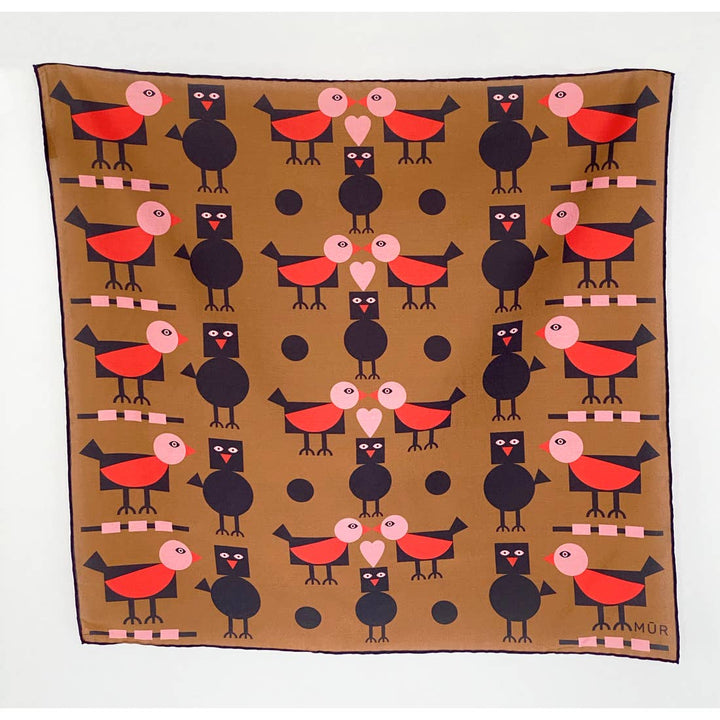 Polka Dot Birds Bandana