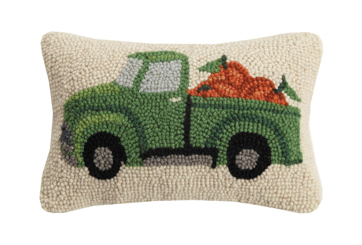 Fall Truck With Pumpkin Hook Small Pillow