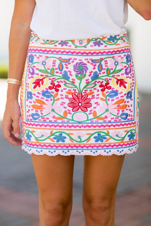 The Harper Skirt in White