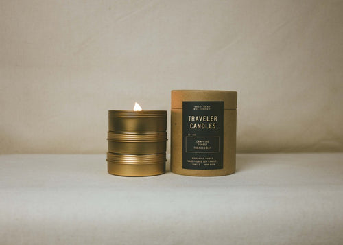 Great Bear Wax Co. Traveler Set - Campfire, Forest, Tobacco Bay