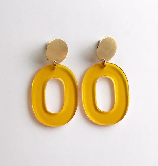 Coco earrings - Translucent yellow