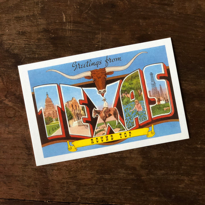 Greetings from Round Top, Texas Postcard