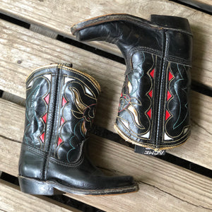 Vintage Acme Steer Inlay Kids Boots - Size - 4 1/2 D (Stamped Inside)