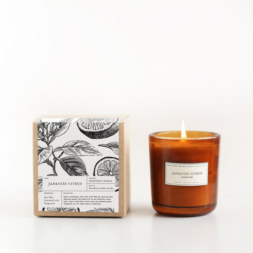 Japanese Citrus Amber Apothecary Candle