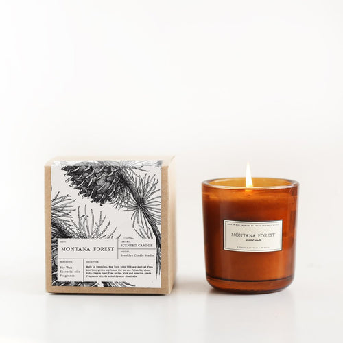 Montana Forest Amber Apothecary Candle