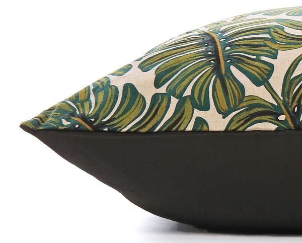 Monstera Leaves Dog Bed - Size Medium