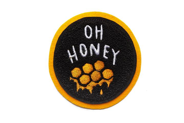 Oh Honey Chenille Patch