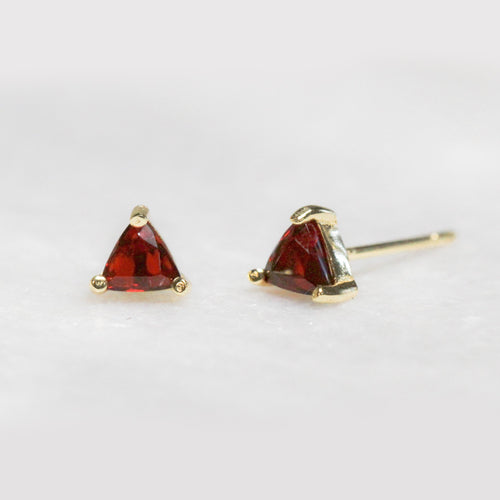 Garnet - Mini Energy Gem Earrings