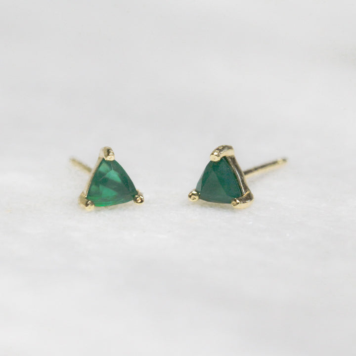 Green Chrysophras Mini Energy Gem Earrings