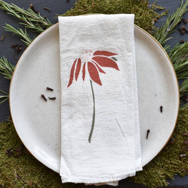 Poinsettia + Pine Napkins, Set of 4