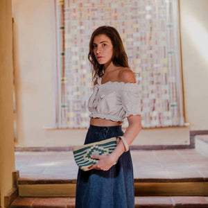 Emerald Diamond Wristlet Clutch