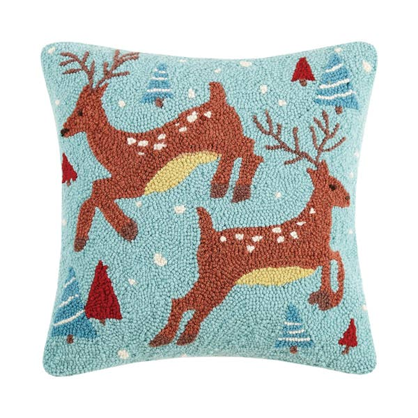 Two Reindeer Hook Pillow