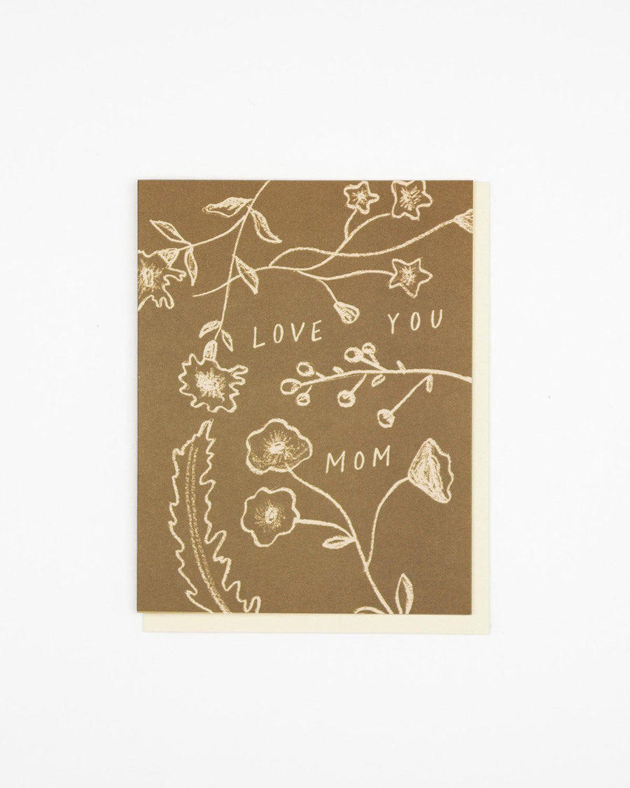 Flower Bits Love You Mom Card