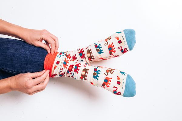 Painted Elephants Socks