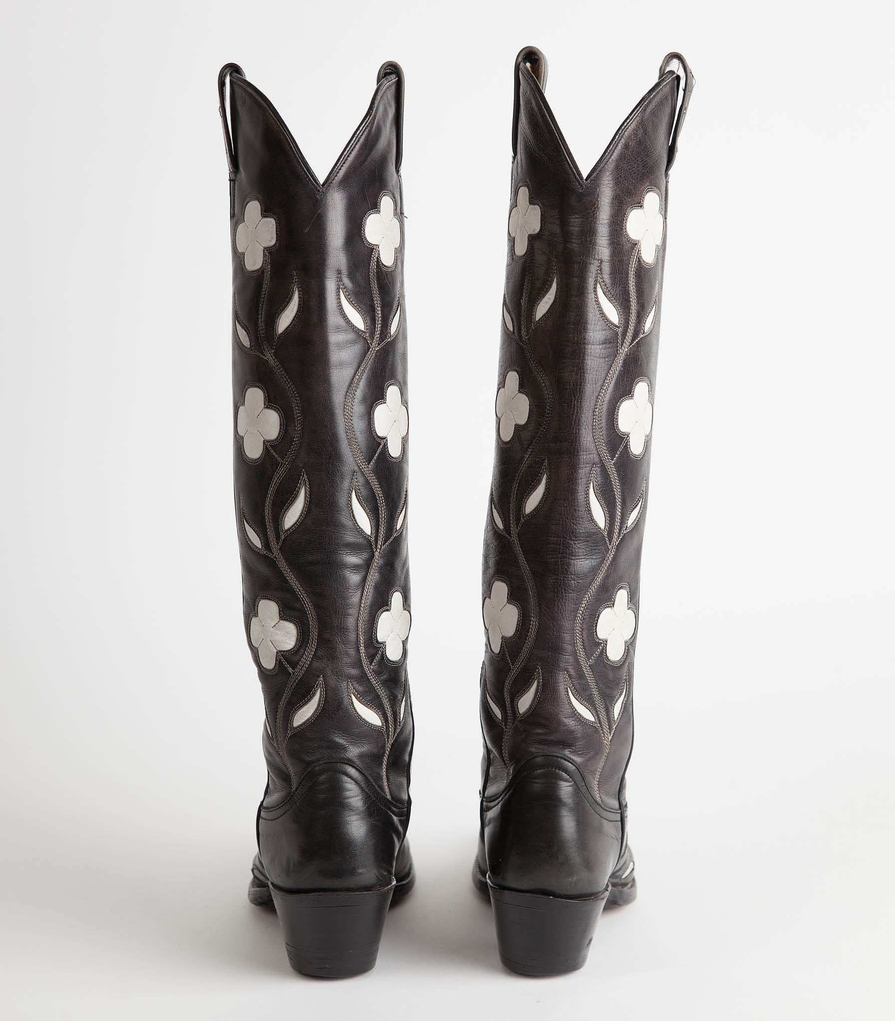 0c372443d15 Vintage Cutter Bill Tall Black & White Cowboy Boots – Townsend ...