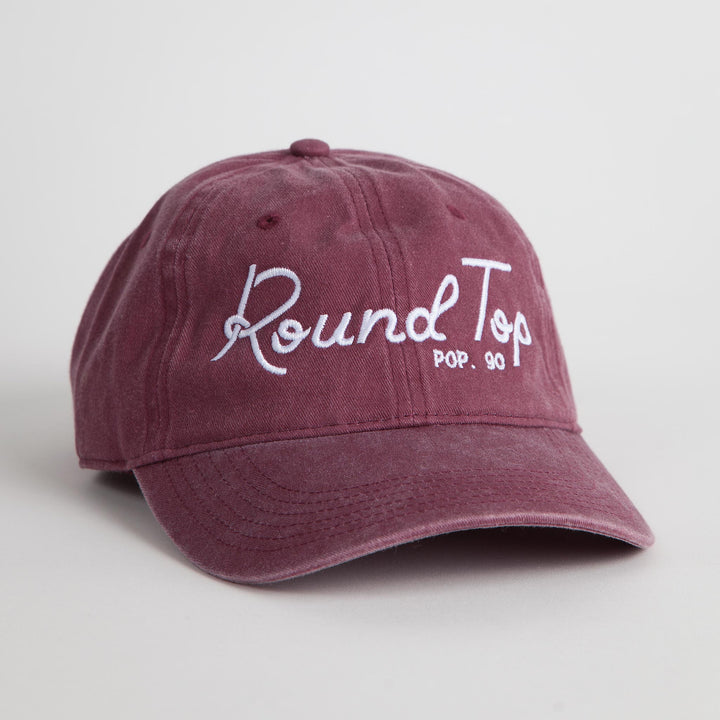 "Maroon and White  ""Round Top Pop 90"" Dad Hat"