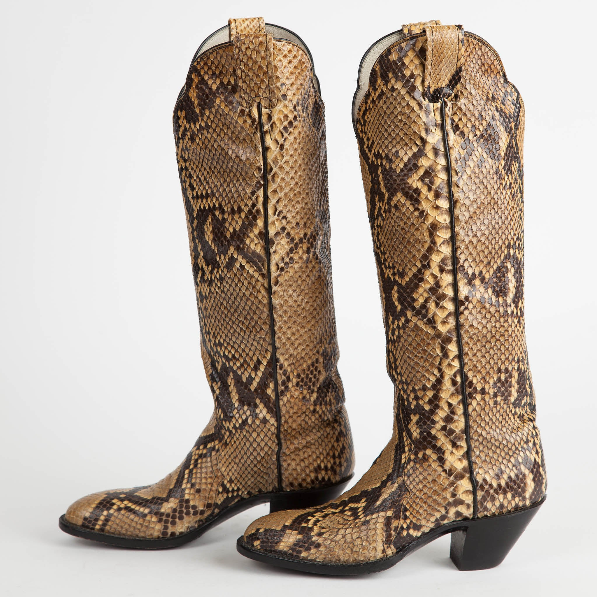 aab98c773e4 Vintage Larry Mahan Full Python Snakeskin Cowboy Boots – Townsend ...