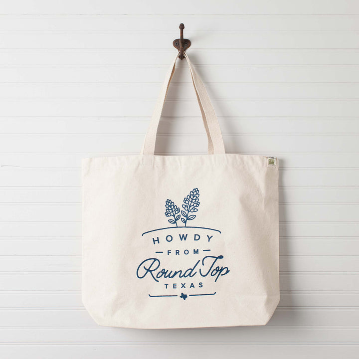 Howdy from Round Top Texas Bluebonnet Tote Bag