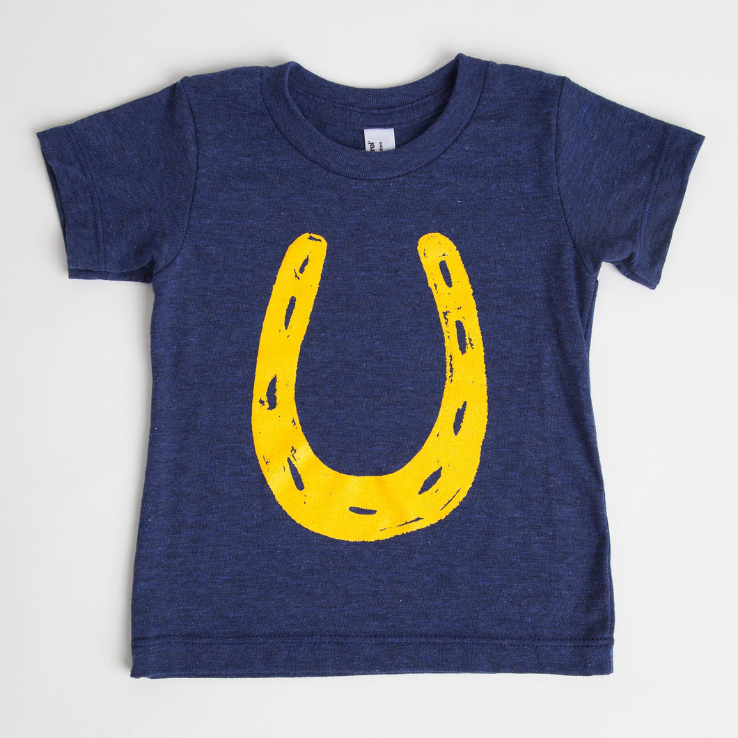 Kids Blue & Gold Lucky Horseshoe T-Shirt