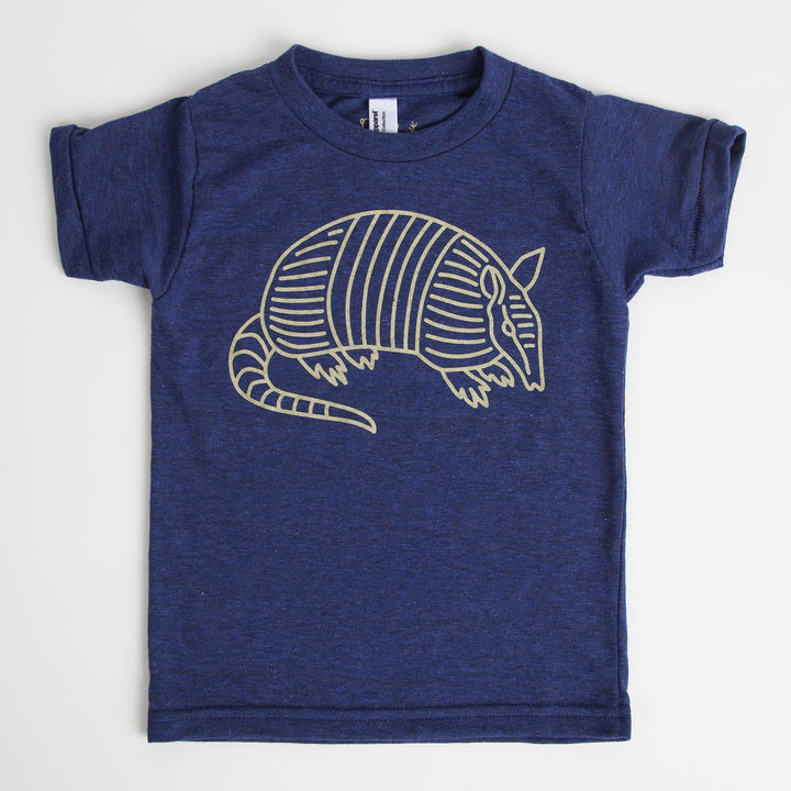Kids Blue Armadillo T-Shirt
