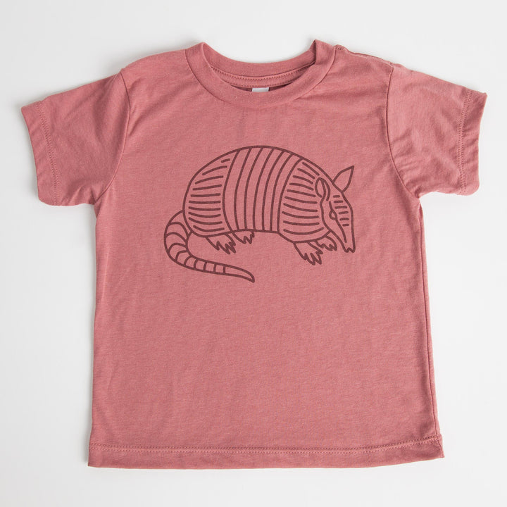 Kids Mauve Armadillo T-Shirt