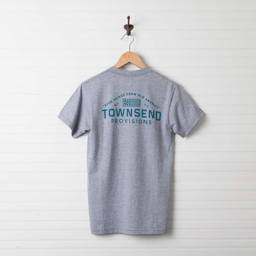 """Good Things from Old America"" Pocket Tee"