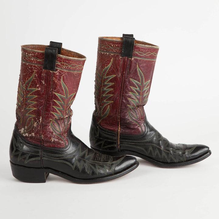 Vintage Stovepipe Cowboy Boots