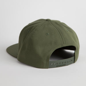 "Green and Gold ""Round Top Pop 90"" Snap Back Hat"