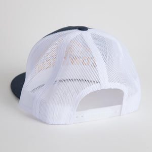"""Good Things"" Blue & Gold Mesh Snap Back Hat"