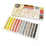 Assorted Earth Coloured Pastels Sticks (Pack of 12)