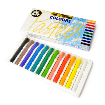 Assorted Coloured Chalk Pastel Set (Pack of 12)