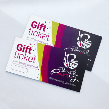 2 Brush Party Gift Vouchers for In-Venue events - Buy 2 and save £3