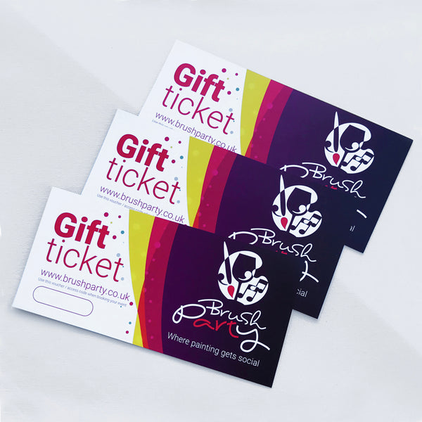 3 Brush Party Gift Vouchers for In-Venue events - Buy 3 and save £6