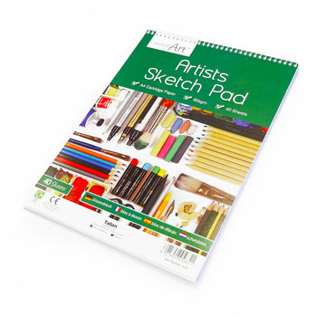 A4 Sketch Pad for Pencil, Charcoal and Watercolour Pencils - 40 sheets