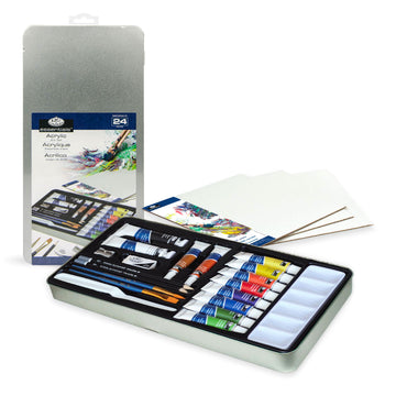 Acrylic Painting Art Set in a Tin