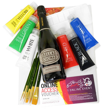 Birthday Brush Party Acrylic Kit for one  - With Online Event Voucher