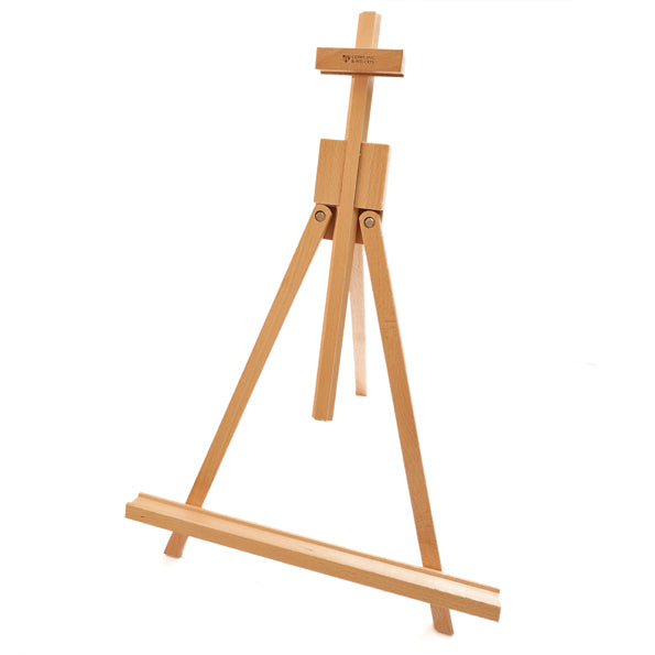 Folding wooden table top artists easel