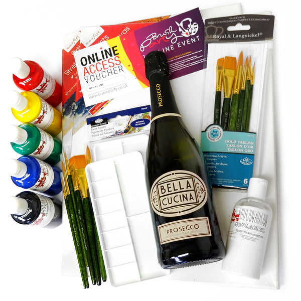 Date Night Brush Party Acrylic Kit for two - With Online Event Voucher