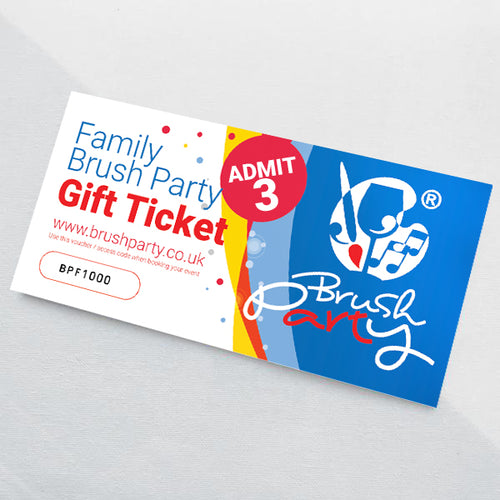 Family Brush Party Gift Voucher for 3 - Save £9