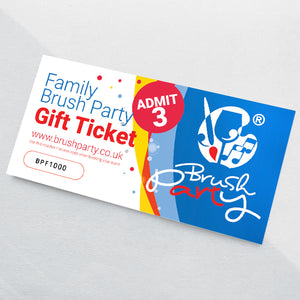Brush Party Family Event Gift Voucher for 3