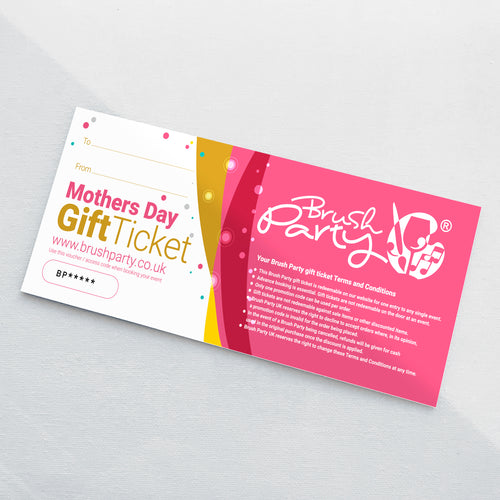 Mothers Day Brush Party Gift Voucher