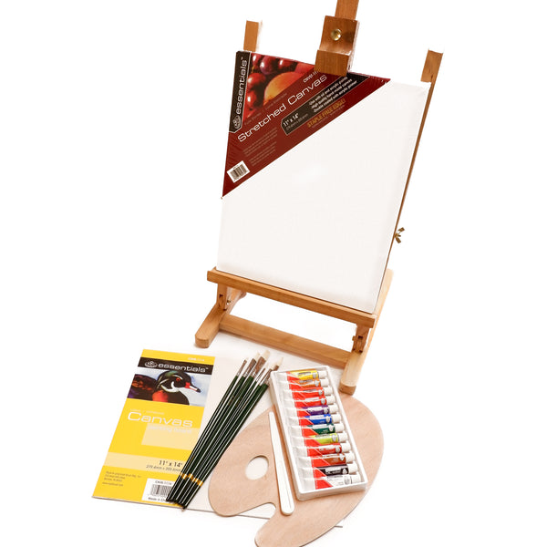 Oil Colour Painting Set with Easel