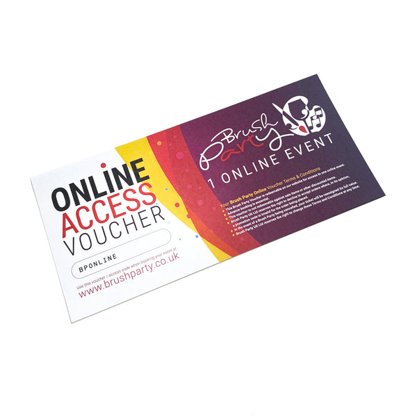 Brush Party ONLINE Voucher - 1 Online Event