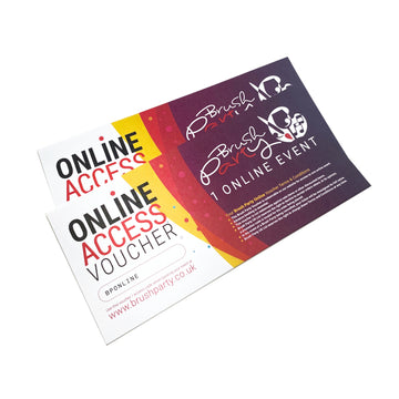 Brush Party ONLINE Voucher - 2 Online Events